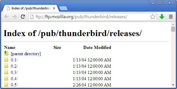 old versions of thunderbird firefox