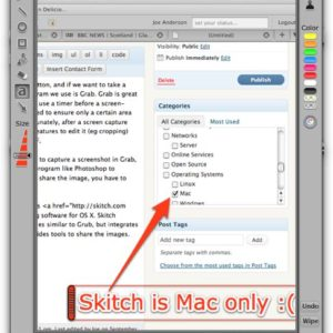 Quickly capture screens and share them on OS X with Skitch