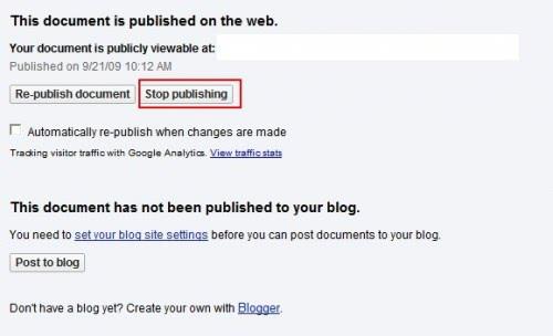 google docs index