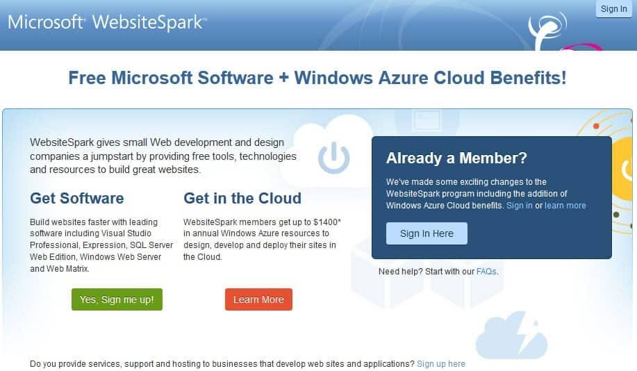 Microsoft Websitespark Ghacks Tech News