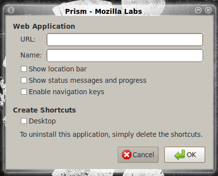 Install Prism on Linux for easy to use web apps