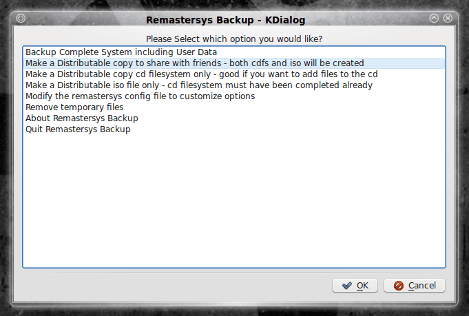 Remastersys: Outstanding solution for backup and custom Live CDs