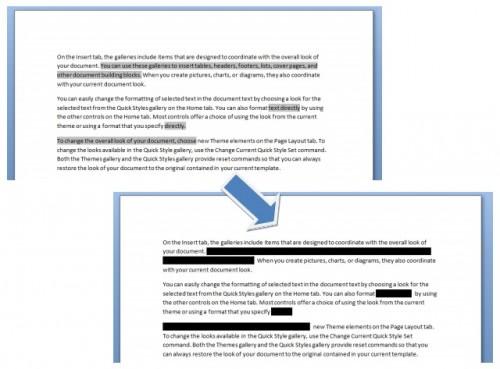 word redaction