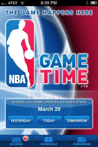 the nba app before the update