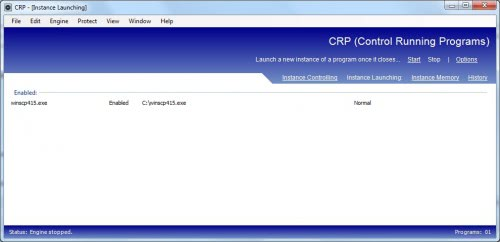 control running programs