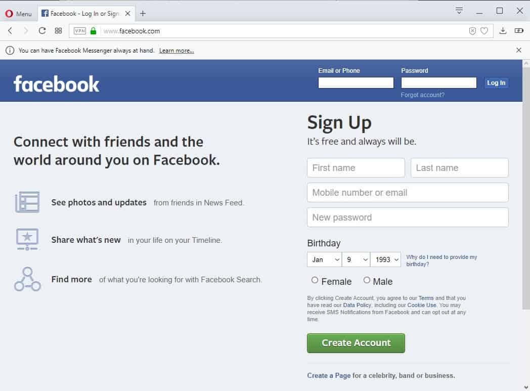 Facebook Login Page Help And Troubleshooting Ghacks Tech News