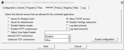 internet explorer control
