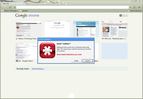 LastPass For Google Chrome Arrives