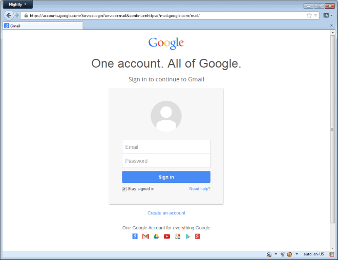 new google account sign-in