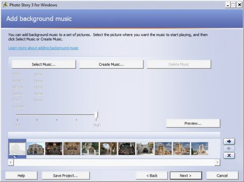 photo story music
