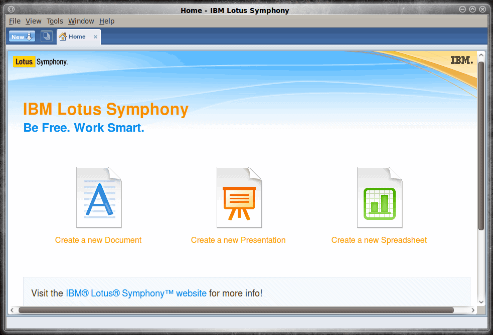 "Lotus Symphony on Linux: Install a part of ""IBM's Smart Work"""
