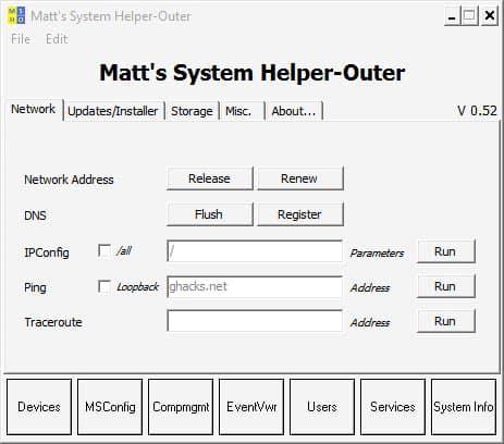 system helper