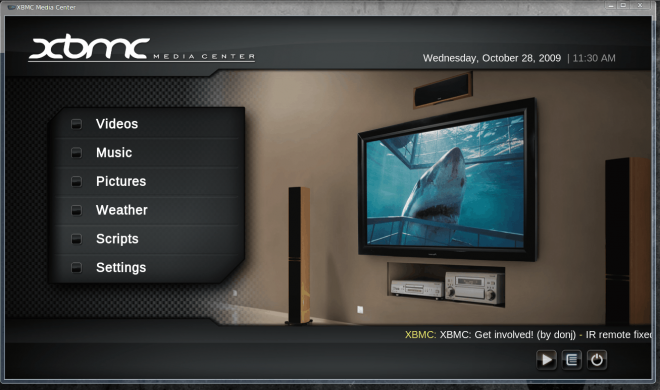 Xbox Media Center on Linux