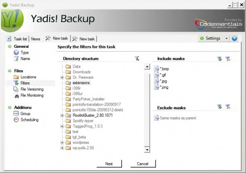yadis backup software