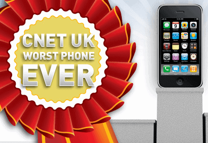 CNET UK Worst Phone Award for the iPhone