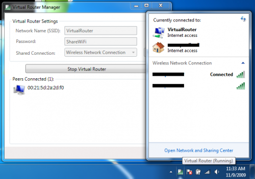 Virtual Router Turns Windows 7 Into Wifi Hotspot