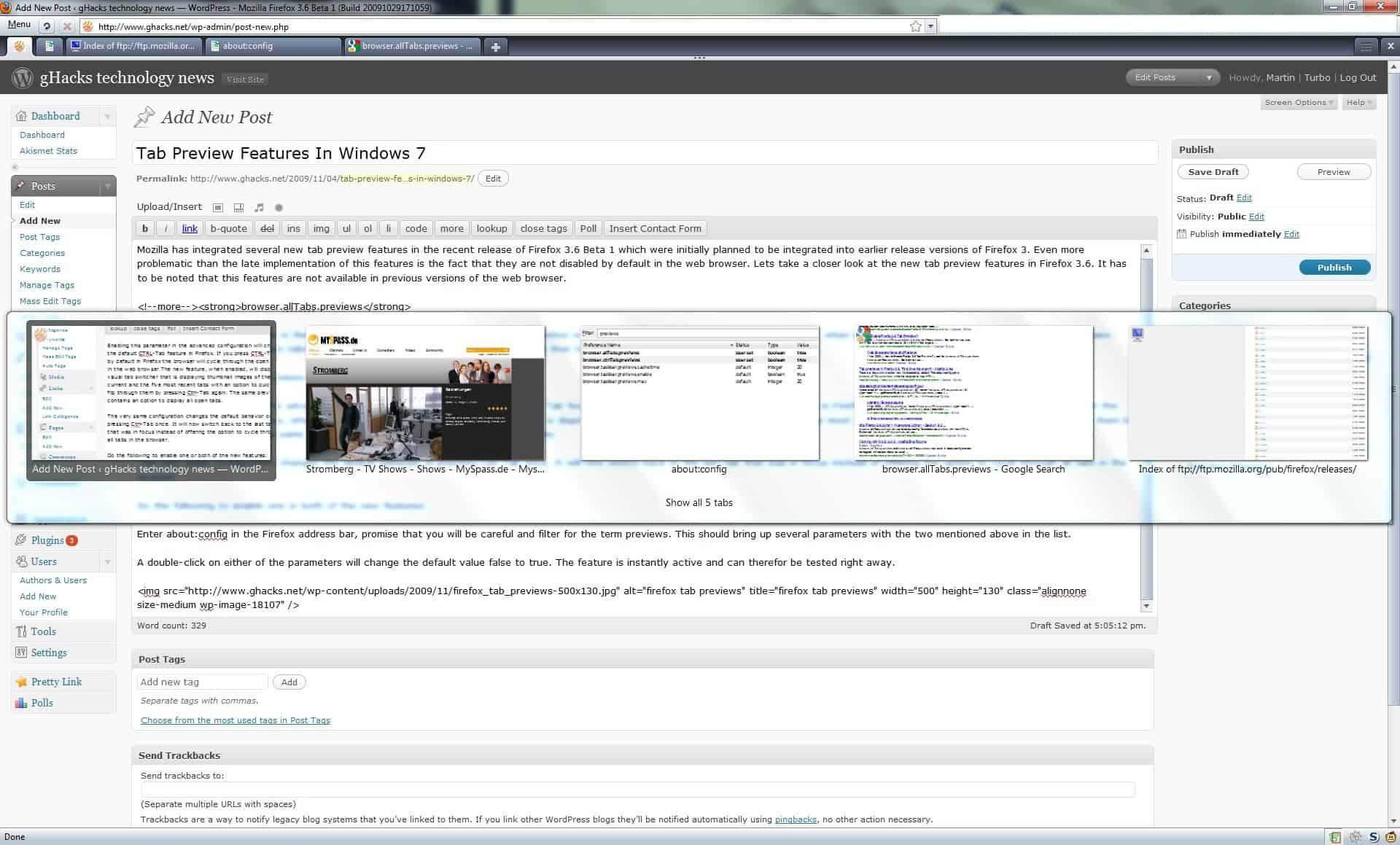 browser ctrl tabs previews