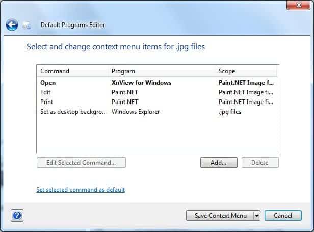 change default program
