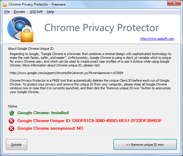 Chrome privacy protector
