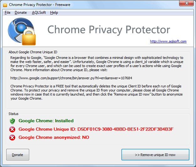 Chrome privacy protector