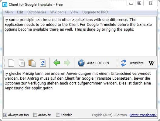 client google translate