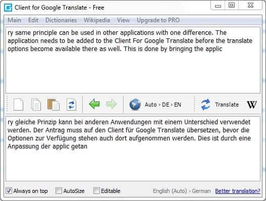 client google translate