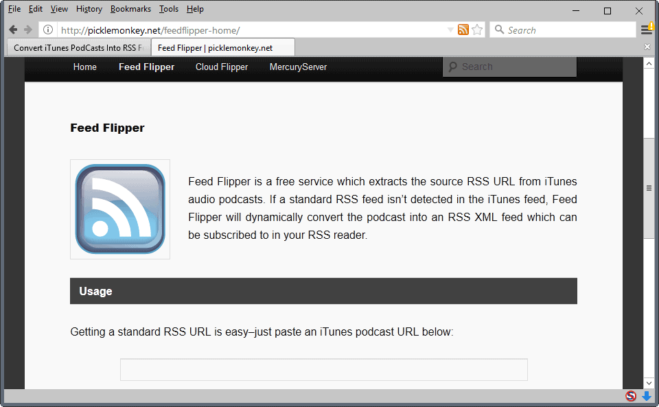 Convert iTunes PodCasts To RSS Feeds