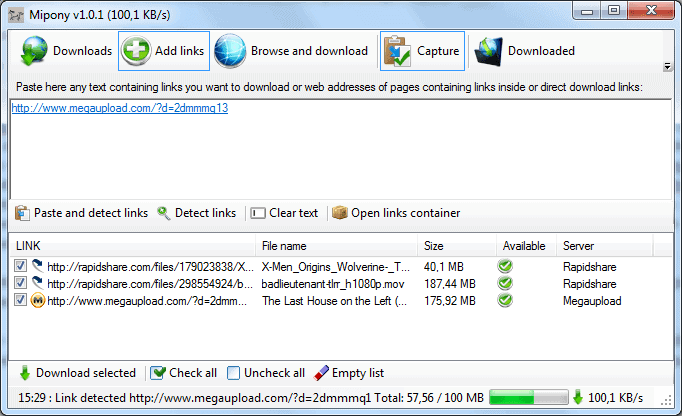 file hosting download manager mipony