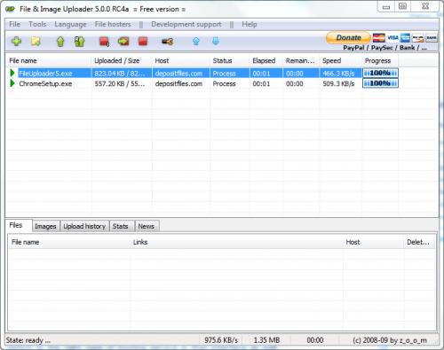 File Hosting Upload Manager File & Image Uploader