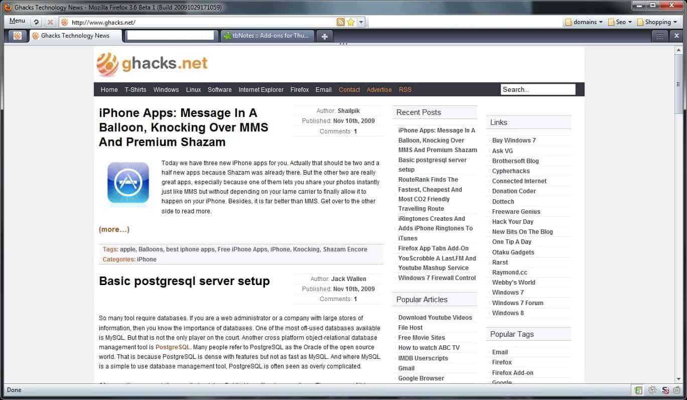 My Current Firefox Setup - gHacks Tech News