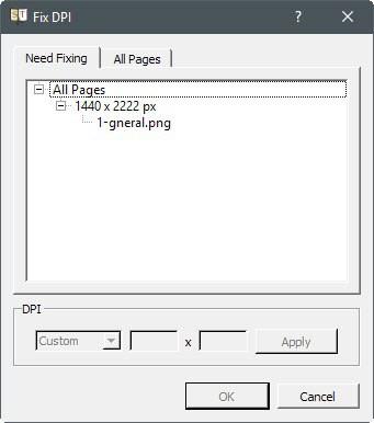 fix dpi scanned page
