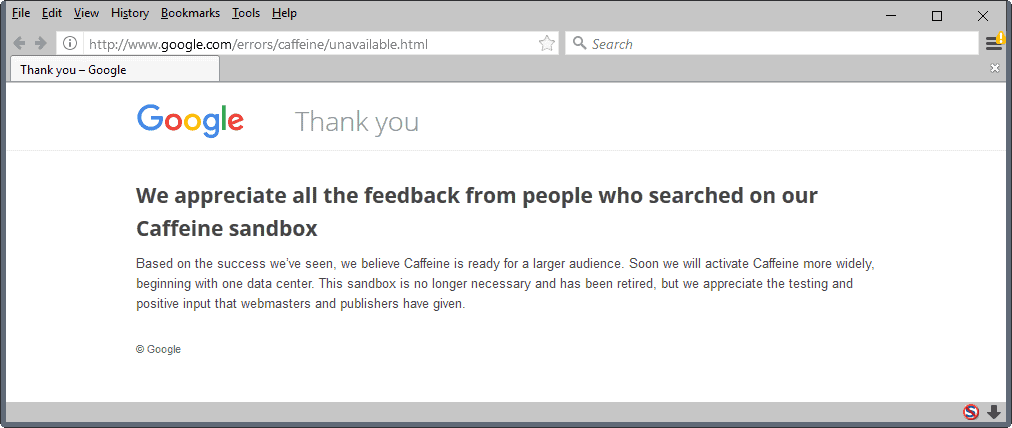 Get Ready For Caffeinated Google Search