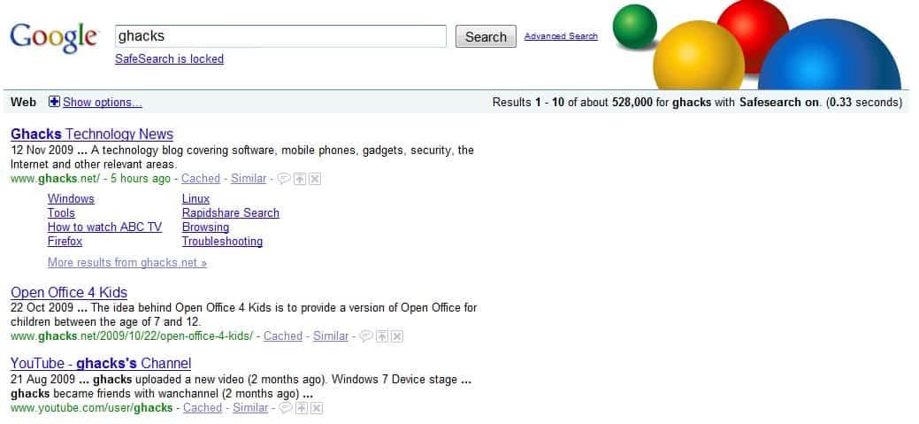 5eb86468d6e59 Lock Safe Search In Google - gHacks Tech News