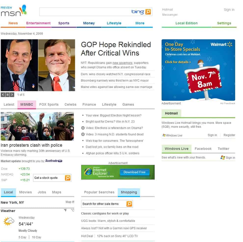 MSN.Com Gets An Overhaul After Ten Years
