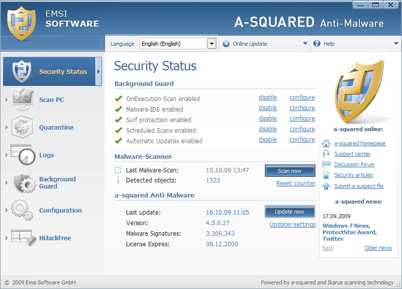 Christmas Giveaway A-squared Anti-Malware