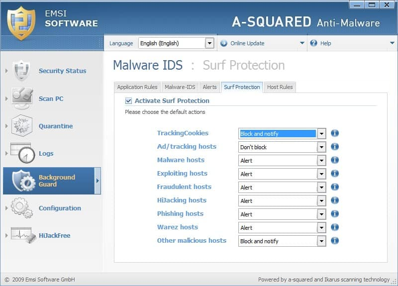 a-squared anti malware surf protection