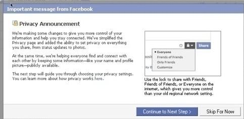 Facebook Launches Controversial Privacy Settings