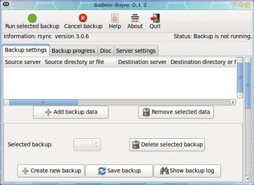 Create rsync backups easily with the help of Gadmin-rsync