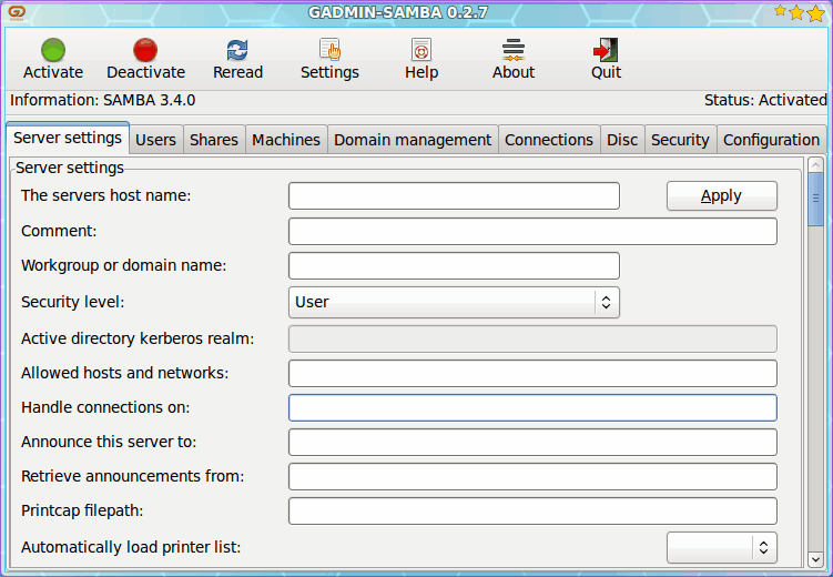 Configure Samba with Gadmin-Samba - gHacks Tech News