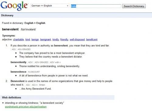 Random Stuff: Google Dictionary: No Longer Available