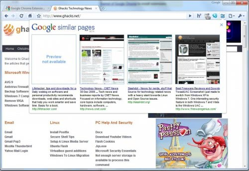 Discover Similar Pages With Google Similar Pages For Chrome