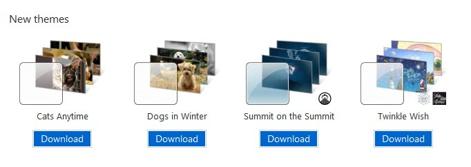 Four New Windows 7 Themes Released By Microsoft