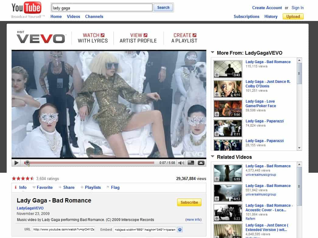 youtube vevo