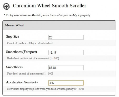 Chromium Wheel Smooth Scroller Extension