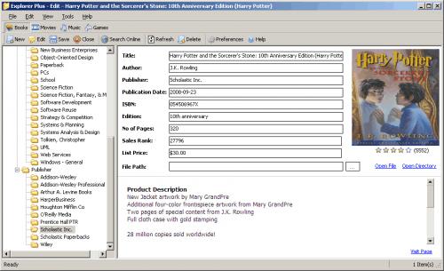 Media Collection Management Software Explorer Plus