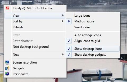 Fix Missing Desktop Icons [Windows 7]