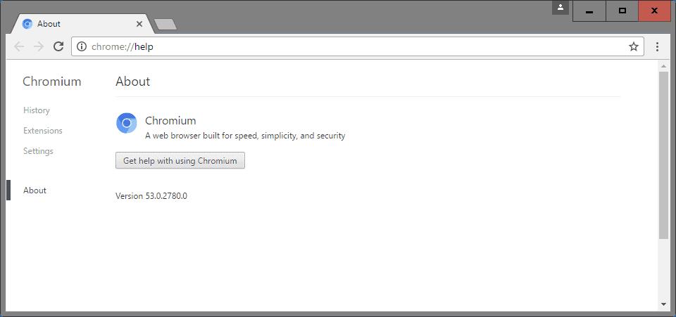 chromium update