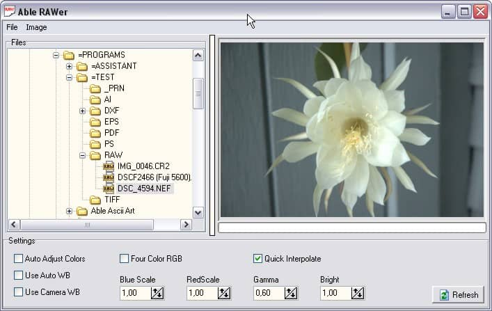 Digital Camera Raw Editor, Converter And Corrector - gHacks Tech News