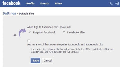 facebook lite regular version
