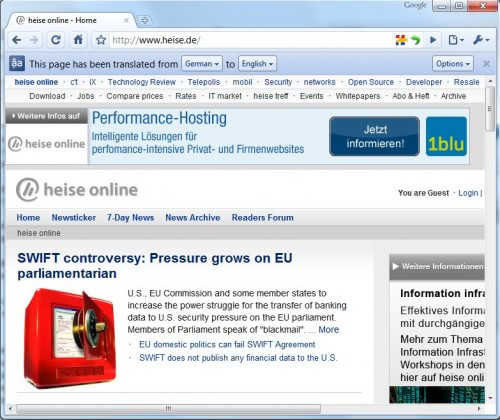 Google Translate Integrated In Google Chrome 5